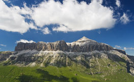 Sella mountains with Piz Boe' Royalty Free Stock Images