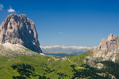 Sella pass, Trentino, Italy Stock Photo