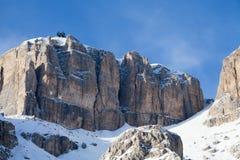 Sella Ronda rocks near Canazei. Stock Photo
