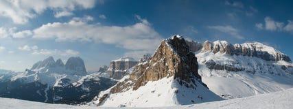 Sella ronda. Winter skiing on Sella ronda Royalty Free Stock Photography