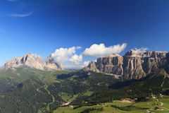 Sella and Sassolungo mountain Royalty Free Stock Images