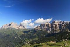 Sella und Sassolungo Berg Lizenzfreie Stockbilder