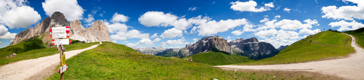 Sella in Val Gardena with the Sella Group Royalty Free Stock Image