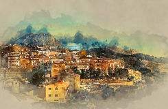 Sella village, old village in Spain Royalty Free Stock Photography