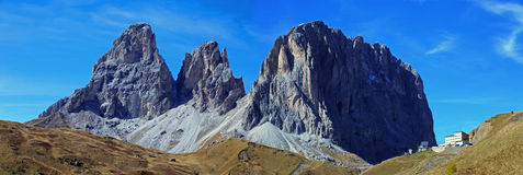 Sellajoch. Dolomites panorama at the Sellajoch in South Tirol Stock Images