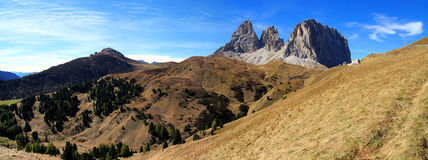 Sellajoch. Dolomites panorama at the Sellajoch in South Tirol Stock Photo
