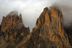 Sellajoch. Dolomites panorama at the Sellajoch in South Tirol Royalty Free Stock Images