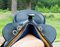 Selle de cheval de cowboy Photographie stock libre de droits