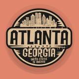 Selle o etiqueta con el nombre de Atlanta, Georgia stock de ilustración