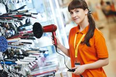 Seller assistant Stock Image