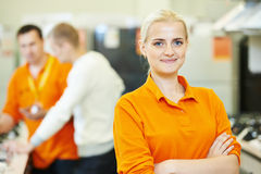 Seller assistant in shop Royalty Free Stock Images