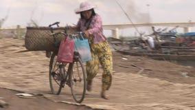 Seller, bike, vegetable, cambodia, southeast asia Stock Image