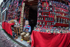 Seller boy in Bhaktapur Stock Photo