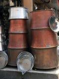 Seller of Cauldron Bazaar, Adana. Royalty Free Stock Photo