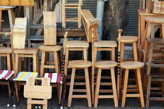 The Seller of chair. Royalty Free Stock Photography