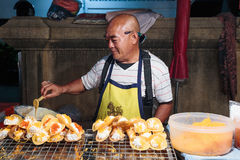 Seller fast food on the street in Thailand Royalty Free Stock Photo
