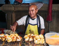Seller fast food on the street in Thailand Stock Photography