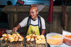 Seller fast food on the street in Thailand Royalty Free Stock Photography
