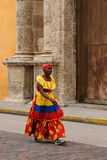 Seller of the fruits in Cartagena Royalty Free Stock Photo