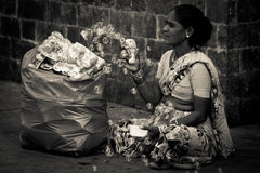 Seller of The Gateway to India, Mumbai, India Royalty Free Stock Image