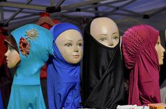 Seller hijab for children   Muslims in Germany 01.12.2014 Stock Images