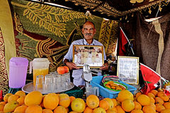 Seller of juices in Marrakech