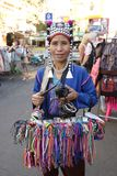 Seller at Khaosan Road, Bangkok Royalty Free Stock Images