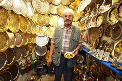 Seller in the medina Stock Photography