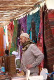 Seller in Mertola Islamic festival Stock Image