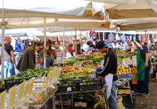 Seller Of Fruits And Vegetables Royalty Free Stock Photography