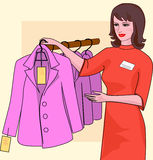 Seller profession stock illustration