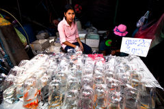 Seller shop at Chatuchak Weekend Market Stock Photography