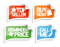 Seller speech bubbles for online markets. Royalty Free Stock Photo