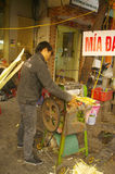 Seller of sugarcane juice Stock Image