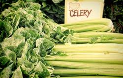 Sellerie für Verkauf am Markt eines Landwirts Lizenzfreies Stockfoto