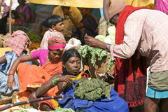 Sellers in the indian rural area market Stock Photos