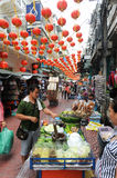 Sellers at the market of Chinatown on Bangkok Stock Image