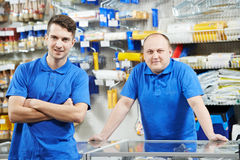 Sellers Team At Home Improvement Store Stock Photos