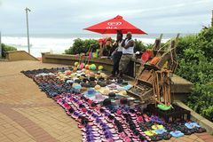Sellers in Umhlanga promenade, South Africa Royalty Free Stock Photo