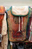 Selles de cheval de nomade d'â de la Mongolie