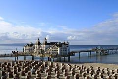 Sellin Baltic Seaside Resort, Ruegen Island. Sellin pier, Baltic Seaside Resort Sellin, Ruegen, Mecklenburg-Western Pomerania, Germany, Europe Royalty Free Stock Photography
