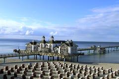 Sellin Baltic Seaside Resort, Ruegen Island. Sellin pier, Baltic Seaside Resort Sellin, Ruegen, Mecklenburg-Western Pomerania, Germany, Europe Stock Photo