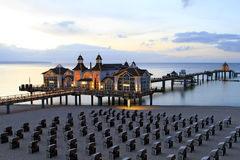 Sellin Baltic Seaside Resort, Ruegen Island. Sellin pier, Baltic Seaside Resort Sellin, Ruegen, Mecklenburg-Western Pomerania, Germany, Europe Royalty Free Stock Photo