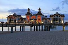 Sellin Baltic Seaside Resort, Ruegen Island. Sellin pier, Baltic Seaside Resort Sellin, Ruegen, Mecklenburg-Western Pomerania, Germany, Europe Stock Photos