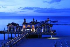 Sellin Baltic Seaside Resort, Ruegen Island. Sellin pier, Baltic Seaside Resort Sellin, Ruegen, Mecklenburg-Western Pomerania, Germany, Europe Royalty Free Stock Photos