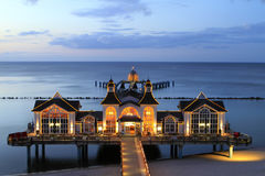 Sellin Baltic Seaside Resort, Ruegen Island. Sellin pier, Baltic Seaside Resort Sellin, Ruegen, Mecklenburg-Western Pomerania, Germany, Europe Stock Photography