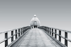 Sellin Pier isolated Stock Photo