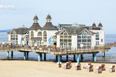 Sellin pier, main building Stock Photography