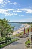 Sellin Ruegen ö, Östersjön, Tyskland Arkivbild