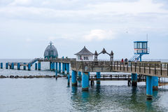Selliner Seebrücke, diving gondola Royalty Free Stock Photo